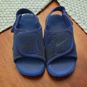 Blue Nike Sandals toddler size 10c